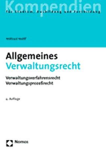 Allgemeines Verwaltungsrecht als Buch
