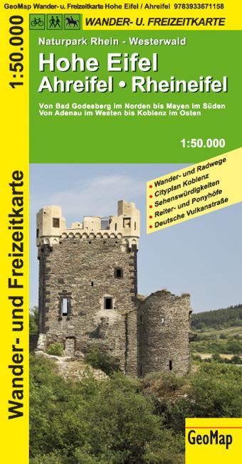 Hohe Eifel - Ahreifel - Rheineifel 1 : 50 000. Wander- und Freizeitkarte als Buch