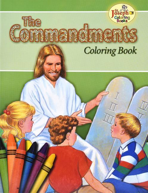 Coloring Book about the Commandments als Taschenbuch