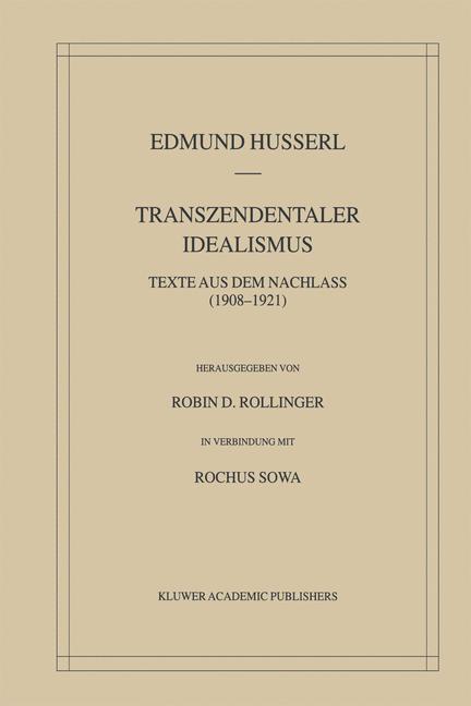 Transzendentaler Idealismus als Buch