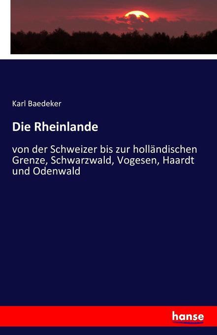 Die Rheinlande als Buch von Karl Baedeker