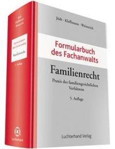 Formularbuch des Fachanwalts Familienrecht als ...