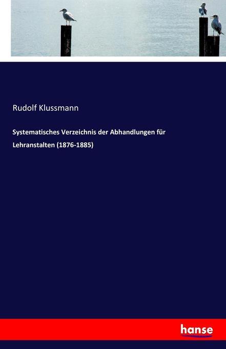 Systematisches Verzeichnis der Abhandlungen für...