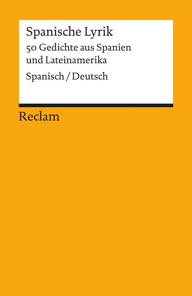 Spanische Lyrik als Taschenbuch