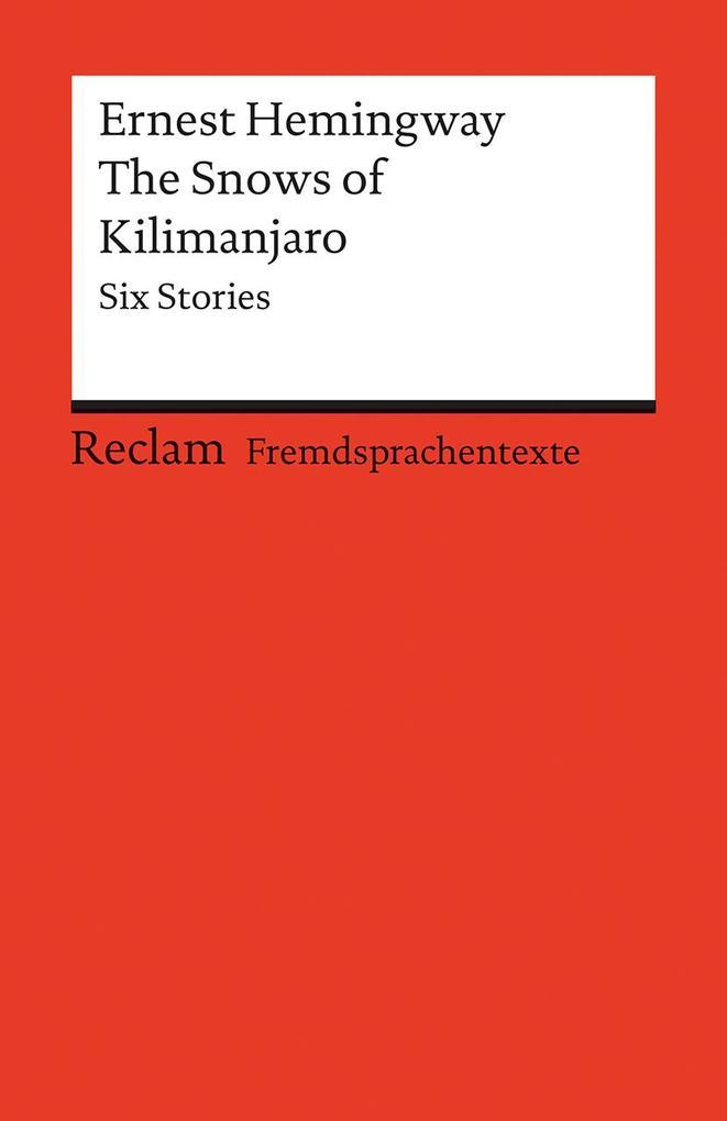 The Snows of Kilimanjaro als Taschenbuch