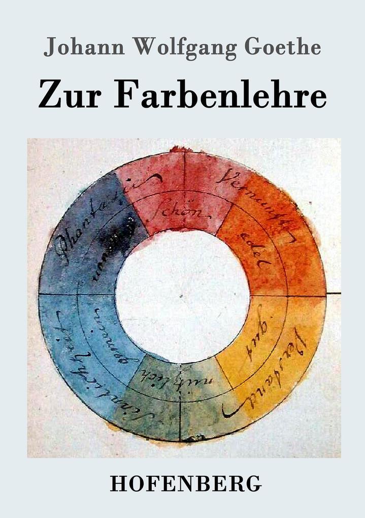 Zur Farbenlehre als Buch
