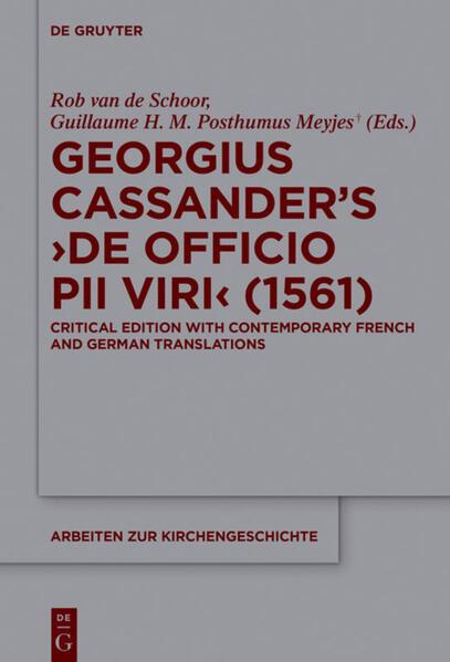 Georgius Cassander's 'De officio pii viri' (1561) als Buch