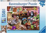 Ravensburger Puzzle - Katzen in der Küche, 150 XXL-Teile