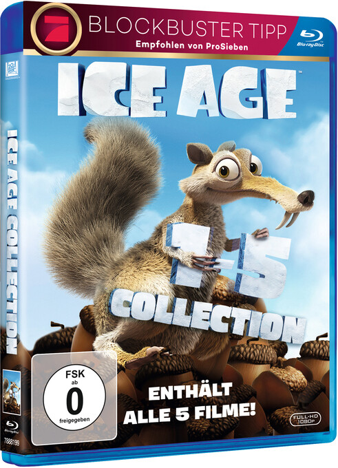 Ice Age 1-5 Boxset, 5 Blu-ray als DVD