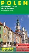 Höfer Polen PL005. Wartheland 1 : 200 000. Straßenkarte