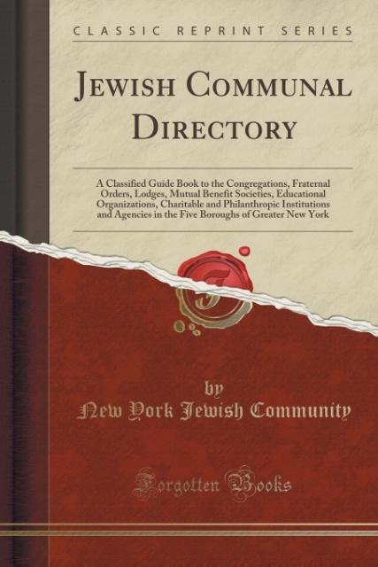 Jewish Communal Directory als Taschenbuch von N...