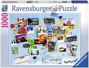 Ravensburger 19643 - Reise um die Welt, Puzzle, 1000 Teile
