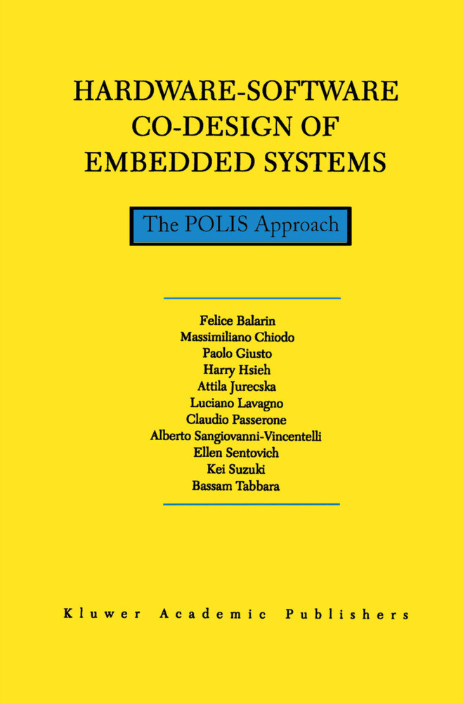 Hardware-Software Co-Design of Embedded Systems als Buch