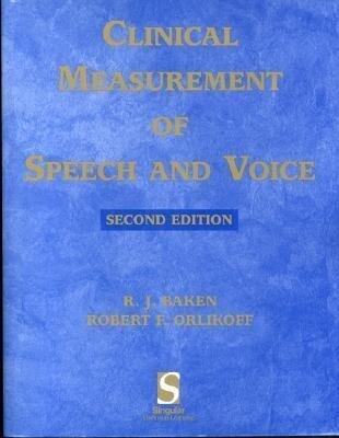 Clinical Measurement of Speech & Voice als Buch