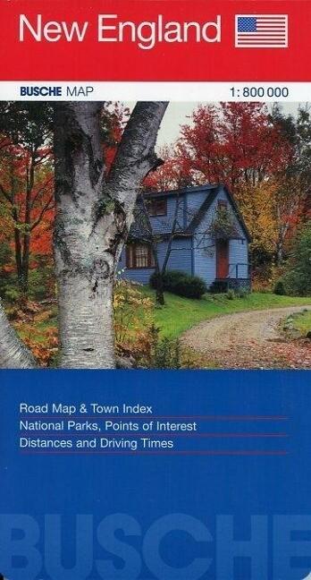 New England 1 : 800 000. Straßenkarte als Buch