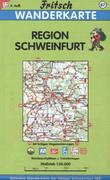 Region Schweinfurt 1 : 50 000. Fritsch Wanderkarte