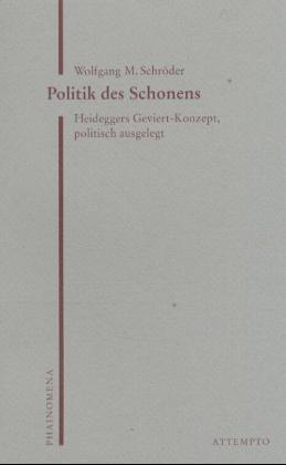 Politik des Schonens als Buch