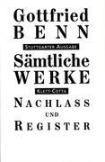 Sämtliche Werke - Stuttgarter Ausgabe / Entwürfe, Vorfassungen und Notizen 1932-1956 und das Register