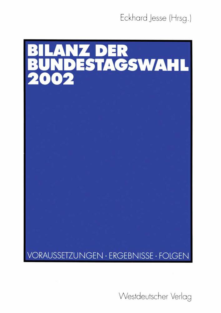 Bilanz der Bundestagswahl 2002 als Buch