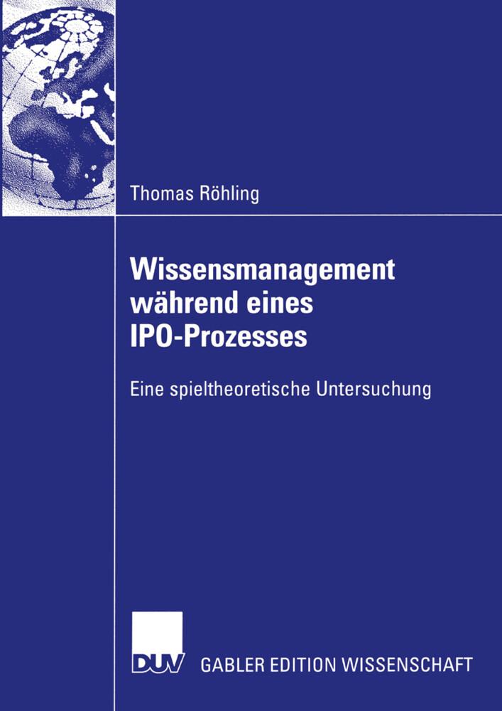 Wissensmanagement während eines IPO-Prozesses als Buch