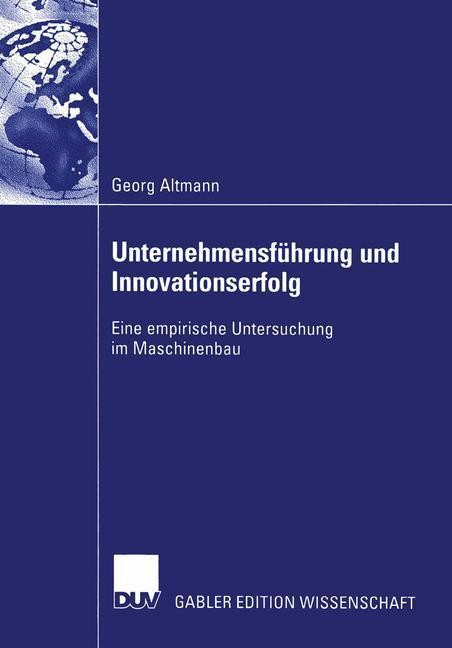 Unternehmensführung und Innovationserfolg als Buch