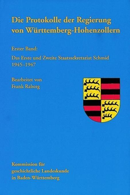 Die Protokolle der Regierung von Württemberg-Hohenzollern 1 als Buch