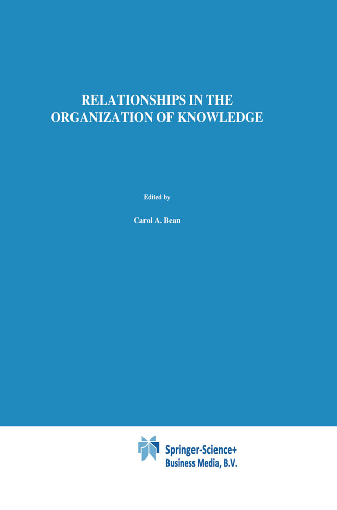 Relationships in the Organization of Knowledge als Buch