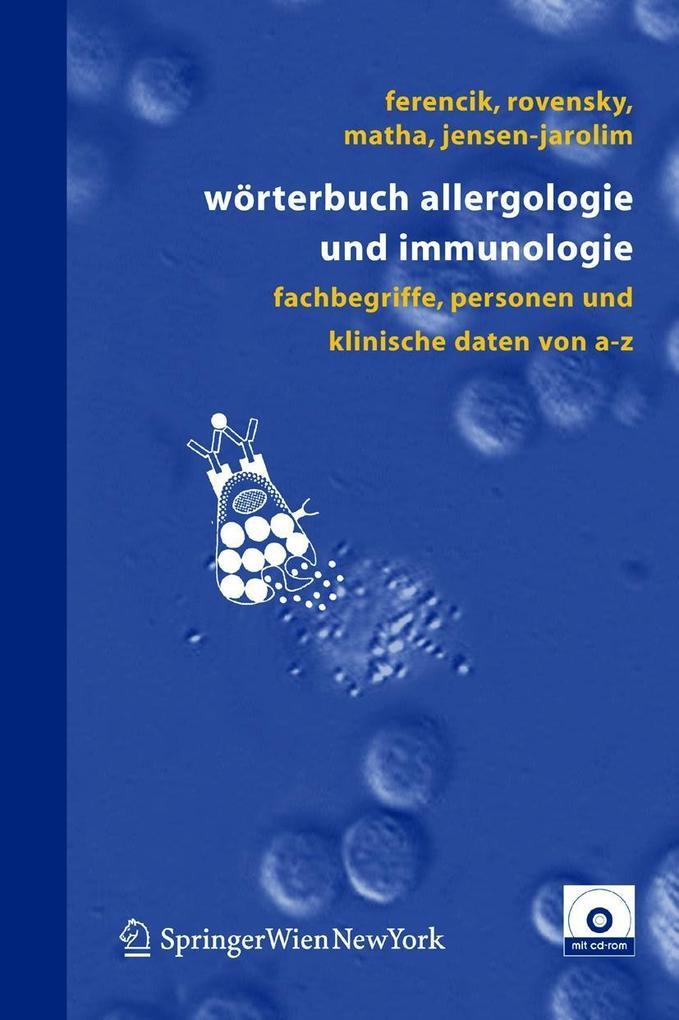 Wörterbuch Allergologie und Immunologie als Buch