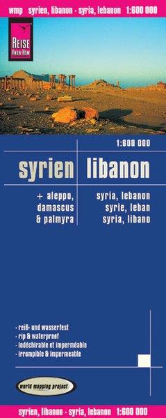 Reise Know-How Landkarte Syrien, Libanon (1:600...