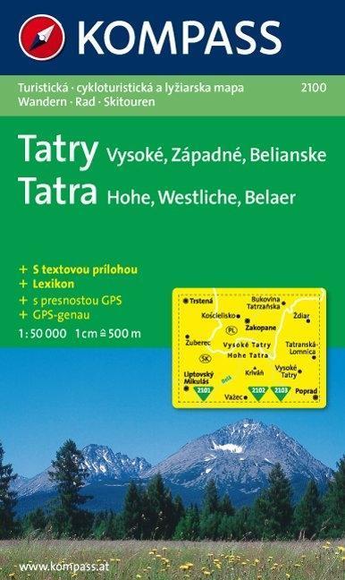 Tatra. Hohe, Westliche, Belaer. 1 : 50 000 als Buch