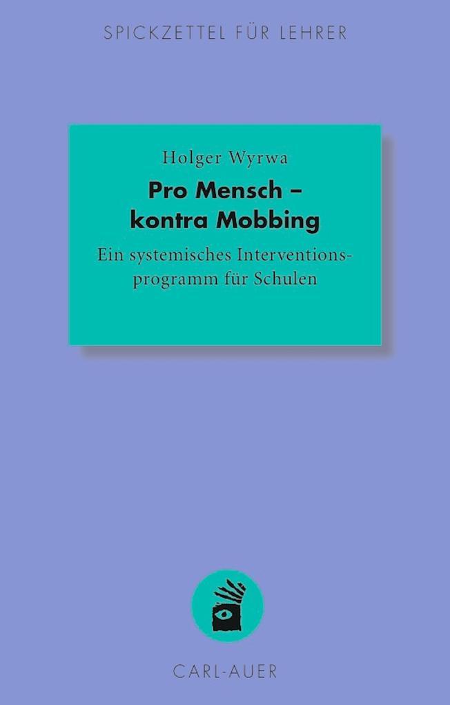 Pro Mensch - kontra Mobbing als eBook Download ...