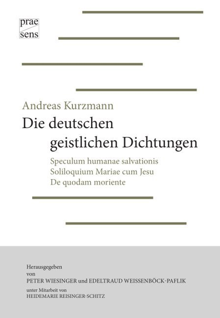 Andreas Kurzmann: Die deutschen geistlichen Dichtungen als Buch