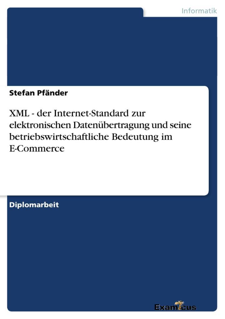 XML - der Internet-Standard zur elektronischen ...