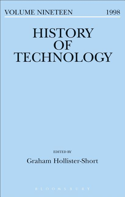 HIST OF TECHNOLOGY V19 als Buch
