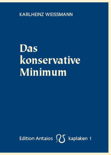 Das konservative Minimum als Buch