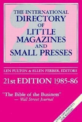 International Directory of Little Magazines and Small Presses 1985-86 als Taschenbuch