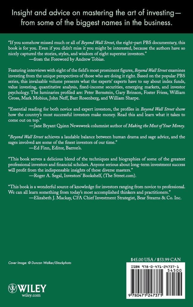 Beyond Wall Street (C) als Buch