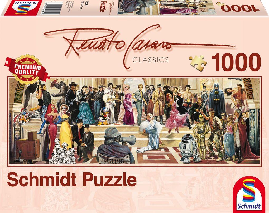 Schmidt Spiele - Puzzle - Panoramapuzzle 100 Jahre Film, 1000 Teile als sonstige Artikel