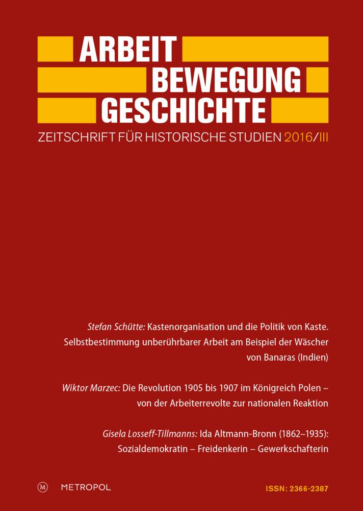 Arbeit - Bewegung - Geschichte als Buch von