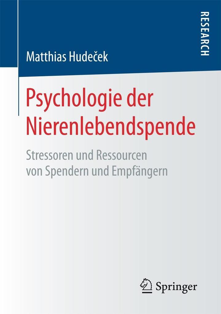 Psychologie der Nierenlebendspende als eBook Do...