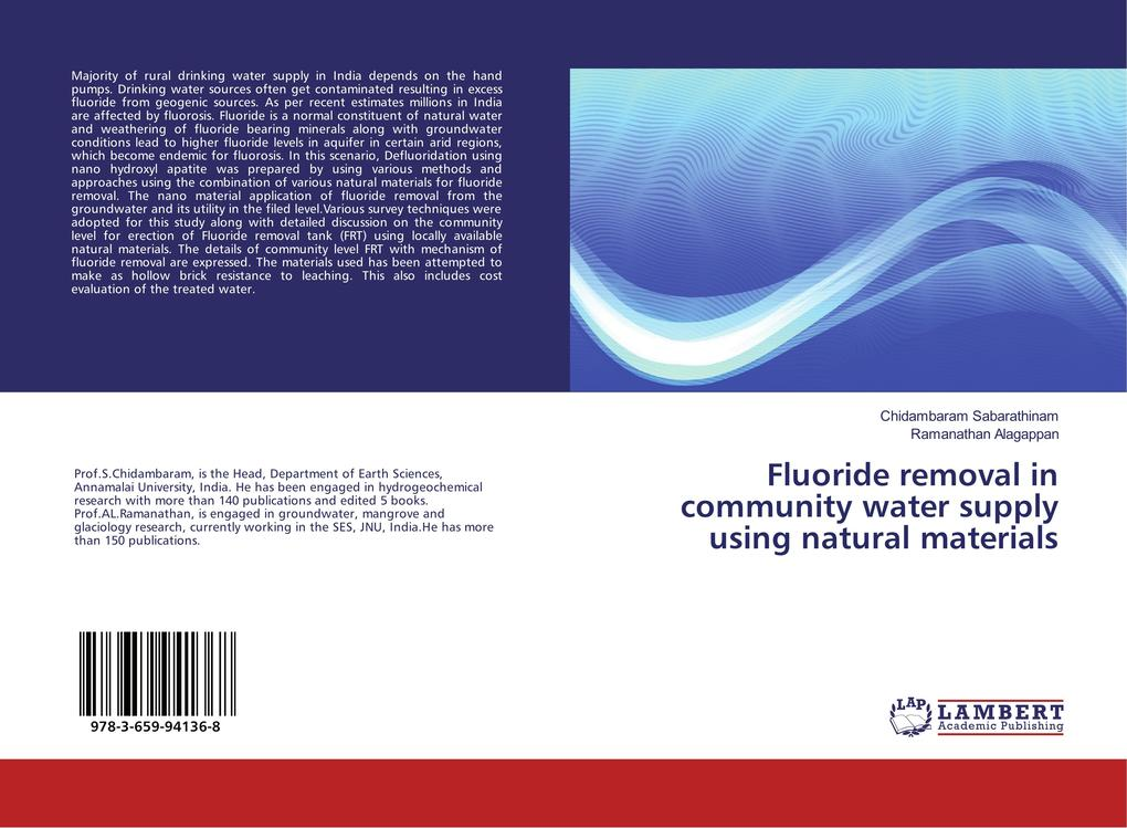 Fluoride removal in community water supply usin...