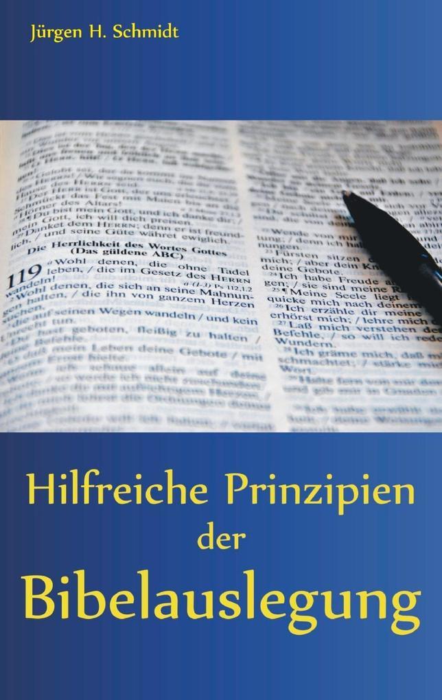 Hilfreiche Prinzipien der Bibelauslegung als eBook