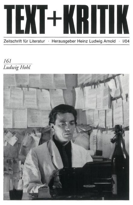 Ludwig Hohl als Buch