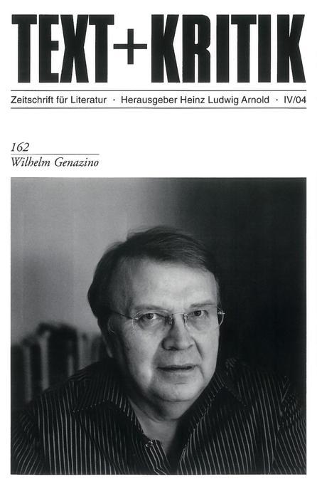 Text+Kritik. Wilhelm Genazino als Buch