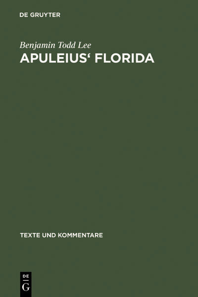 Apuleius' Florida als Buch