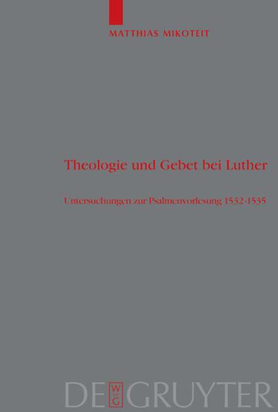 Theologie und Gebet bei Luther als Buch