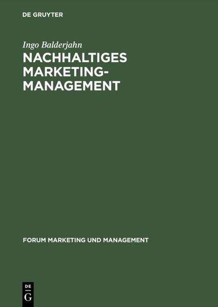 Nachhaltiges Marketing-Management als Buch
