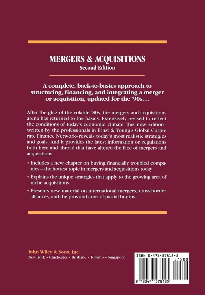 Mergers and Acquisitions als Buch