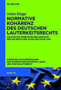 Normative Kohärenz des deutschen Lauterkeitsrechts