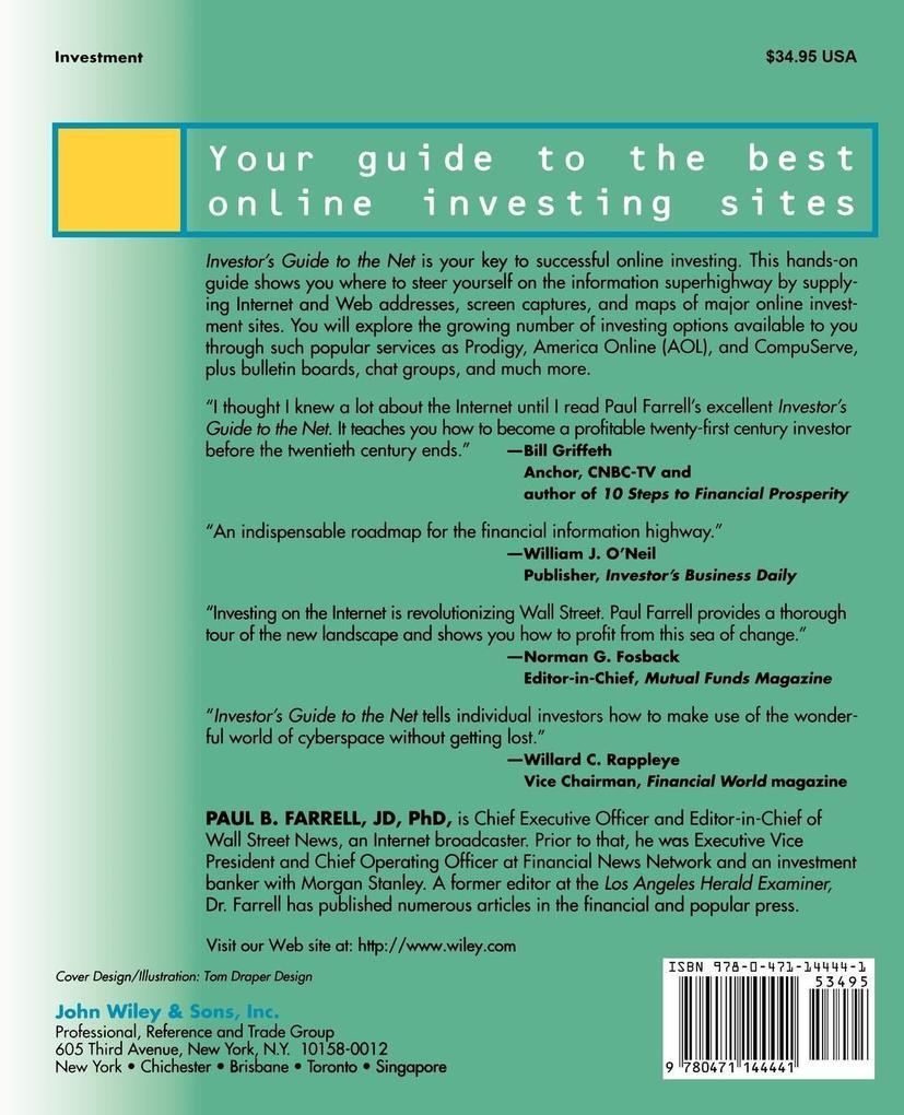 The Investor's Guide to the Net: Making Money Online als Taschenbuch